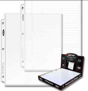 100-sheets-1-pocket-8-5-8-1-2-X-11-Photos-BCW-Pages-INCLUDES-BOX