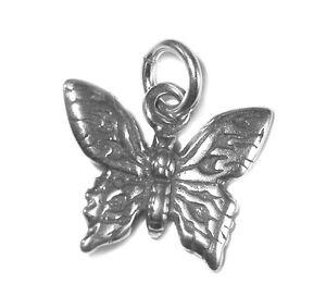 STERLING-SILVER-CHARM-Insect-BUTTERFLY