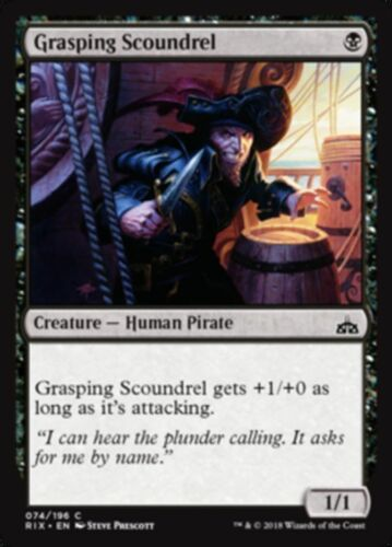 4x Grasping Scoundrel Rivals of Ixalan COMMON Magic Gathering MINT UNPLAYED