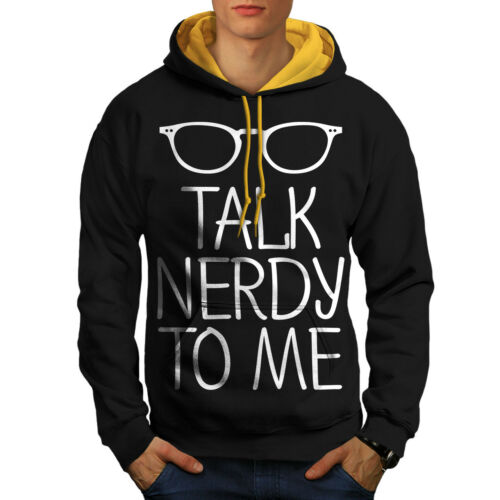 Hoodie Hood Me To Talk Men gold Black New Contrast Nerdy PH1OUqwAx