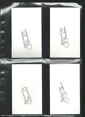 Fine 5 Johnny Peirson Autograph/auto/hand-signed Index Card 3x5 A