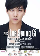 "LEE SEUNG GI ""THE BRILLIANT SHOW"" 2013 SINGAPORE CONCERT TOUR POSTER-K-pop Music"