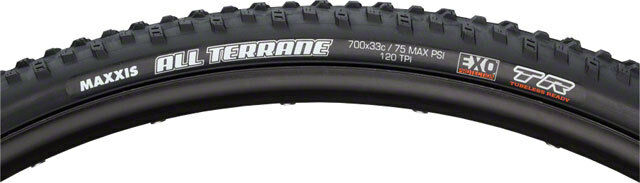 New Maxxis All Terrane 700x33mm Tire 60tpi  Dual Compound EXO Casing Tubeless  10 days return