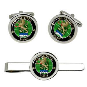 Vans-Scottish-Clan-Cufflinks-and-Tie-Clip-Set