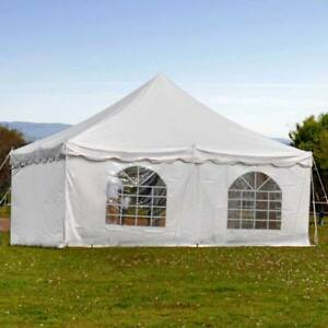 Details about 20x20' Commercial Pole Tent Party Wedding Canopy With 2 Solid  2 Window Sidewalls