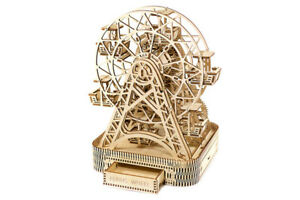 Puzzles & Geduldspiele FERRIS WHEEL WOODEN CITY 3D Mechanical Wooden Model