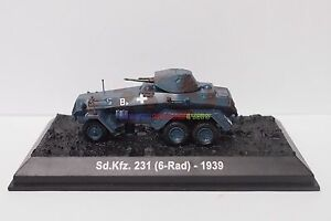 New 1/72 Diecast Tank German Sd.Kfz. 231 Vehicle WWII Military Model Toy Soldier