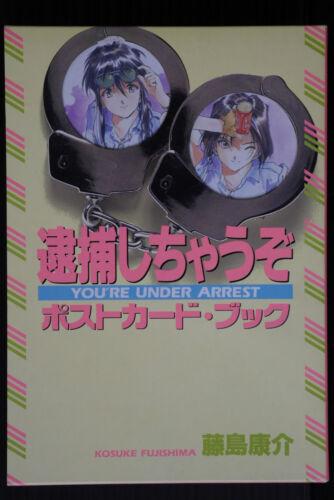 You/'re Under Arrest Postcard Book JAPAN Kosuke Fujishima Art