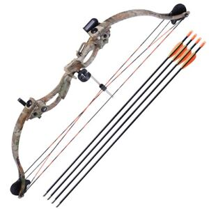 34-034-Youth-Compound-Bow-Kit-Target-w-28-034-Arrow-Set-Junior-Archery-Hunting-20lb