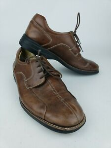 Johnston-amp-Murphy-Oxford-Shoes-Mens-12M-Sheep-Skin-Insoles-20-7223-Brown-Leather