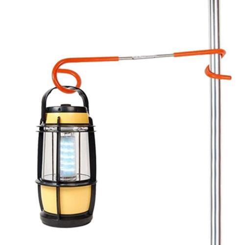 2-way Outdoor Hanger Lantern Light Lamp Tent Pole Post Hook Camping Pigtail SK