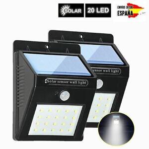 20-LED-Solar-Luz-de-Pared-PIR-Sensor-de-Movimiento-Lampara-Exterior-Impermeable