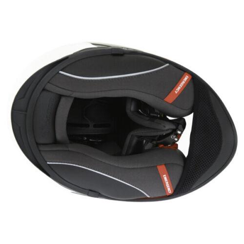 Scorpion EXO 510 Hero Full Face Motorcycle Helmet Motorbike White Red Black J/&S