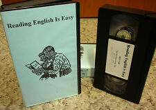 READING ENGLISH IS EASY world familiar objects ALPHABET educational VHS