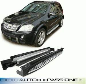Coppia-pedane-laterali-per-Mercedes-ML-W164-dal-2005-gt-2011-side-steps