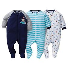 adea4ea72 Gerber Onesies Baby Boy Sleep N Play Sleepers 3 Pack (6-9 Months ...