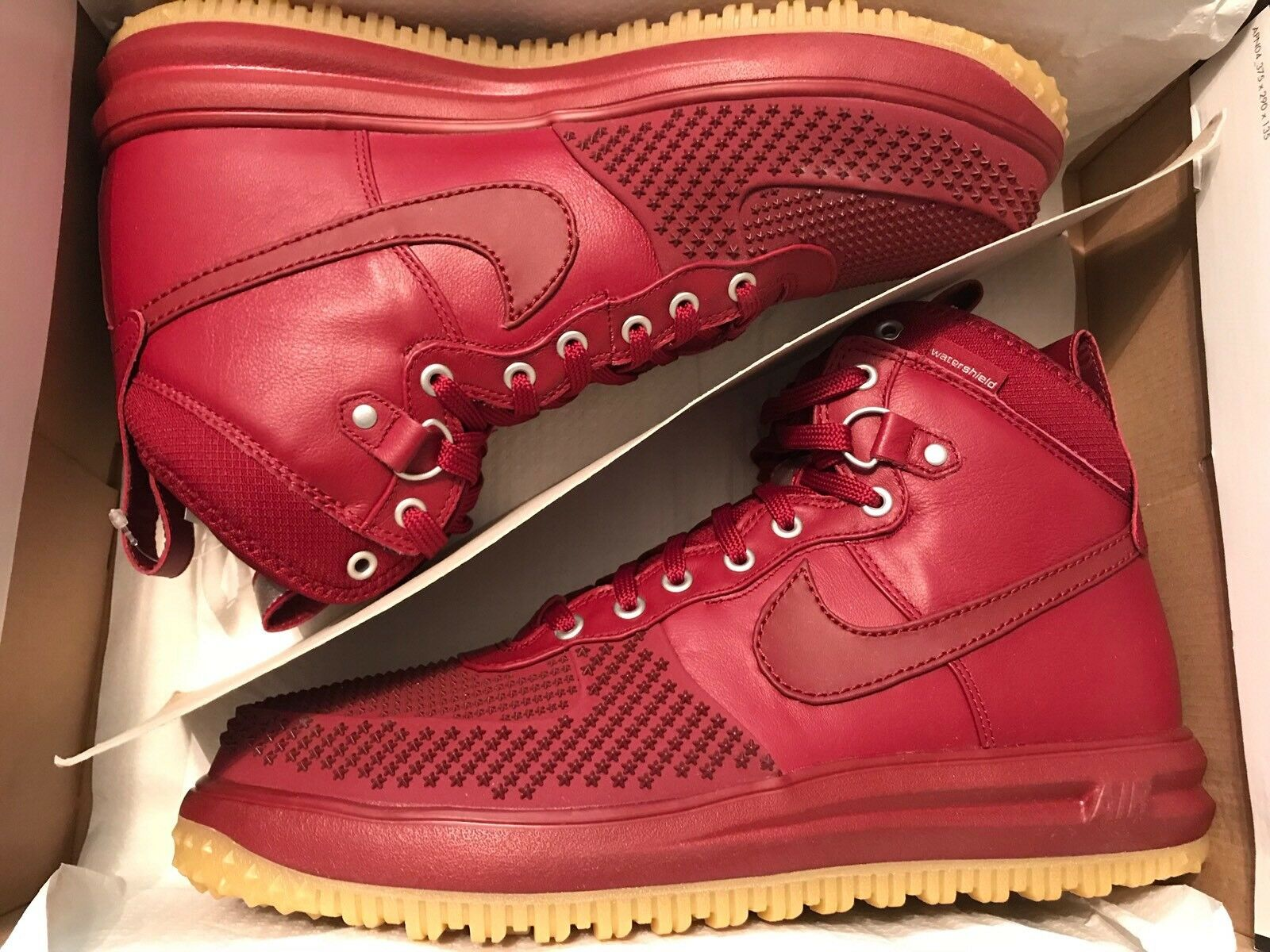 82a92e053324 Nike Lunar Force 1 Duckboot Team Red 805899-600 Mens Sizes 13 for ...