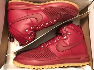 488f8b8f40c6 Nike Lunar Force 1 Duckboot Men s Shoes Team Red Gum 805899-600 Size ...