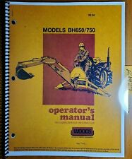Woods Bh650 Bh750 Backhoe Owners Operators Amp Parts Manual F 6988 783