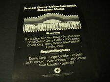 COLGEMS Rare 1972 Promo Ad MIKE NESMITH Carole King BODIE CHANDLER David Gates