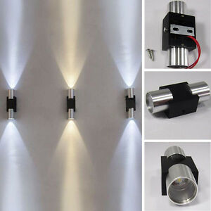 Modern-Waterproof-2W-LED-Wall-Light-Fixture-Up-Down-Sconce-Lamp-Outdoor-Indoor