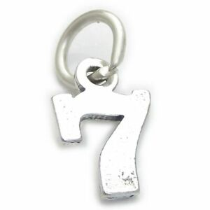 Number 3 Three sterling silver charm .925 x 1 Numbers charms pendants