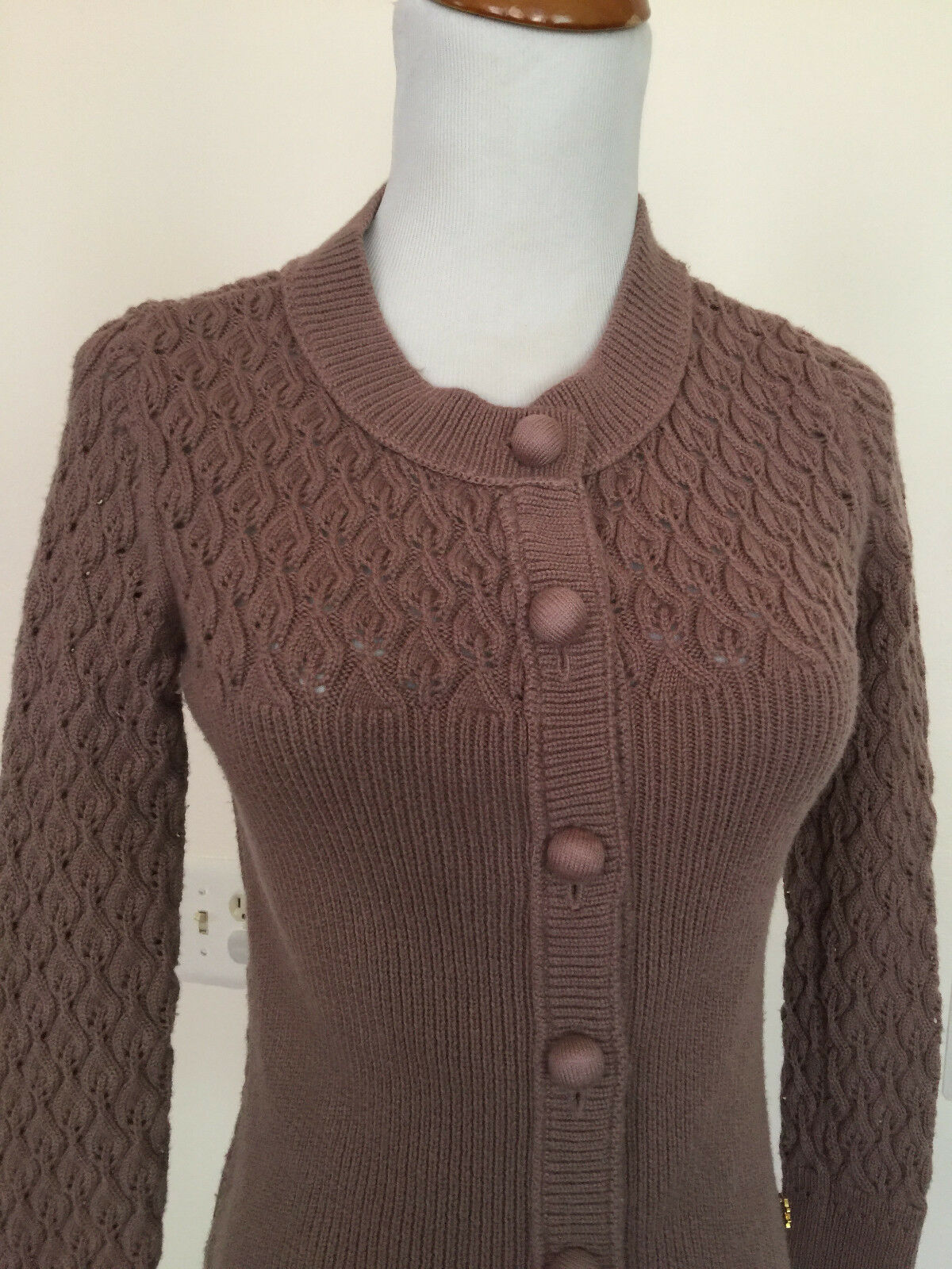 Tory Burch Wool Open Knit Cardigan size size size Small S 5012ef