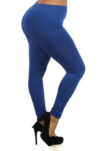 c9e3d2721c6ca Women's Fleece Lined Leggings Thick Solid Pants Plus Size Black XL ...