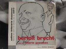 "VITTORIO GASSMAN - BERTOLD BRECHT 45 GIRI 7"" EP POESIA"