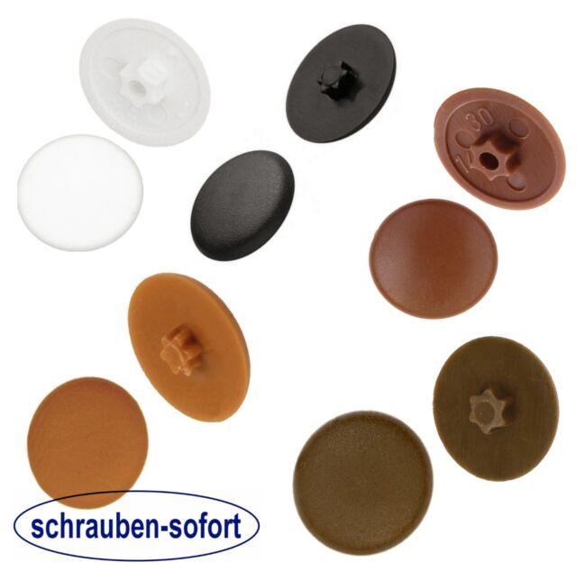 PVC Kunstoff Schraube schwarz 6mm 10Stück