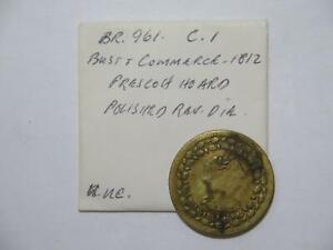 CANADA BUST 1812 1/2 PENNY TOKEN EX:DONALD G PARTRICK PRESCOTT HOARD BR-961 #FC⭐