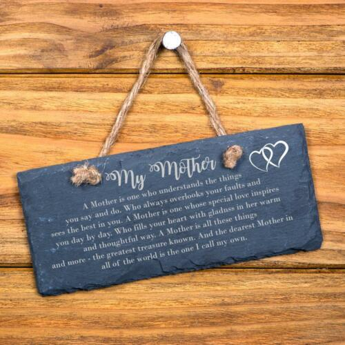 Mother Verse Sentiment Gift Slate Plaque SL-RC23