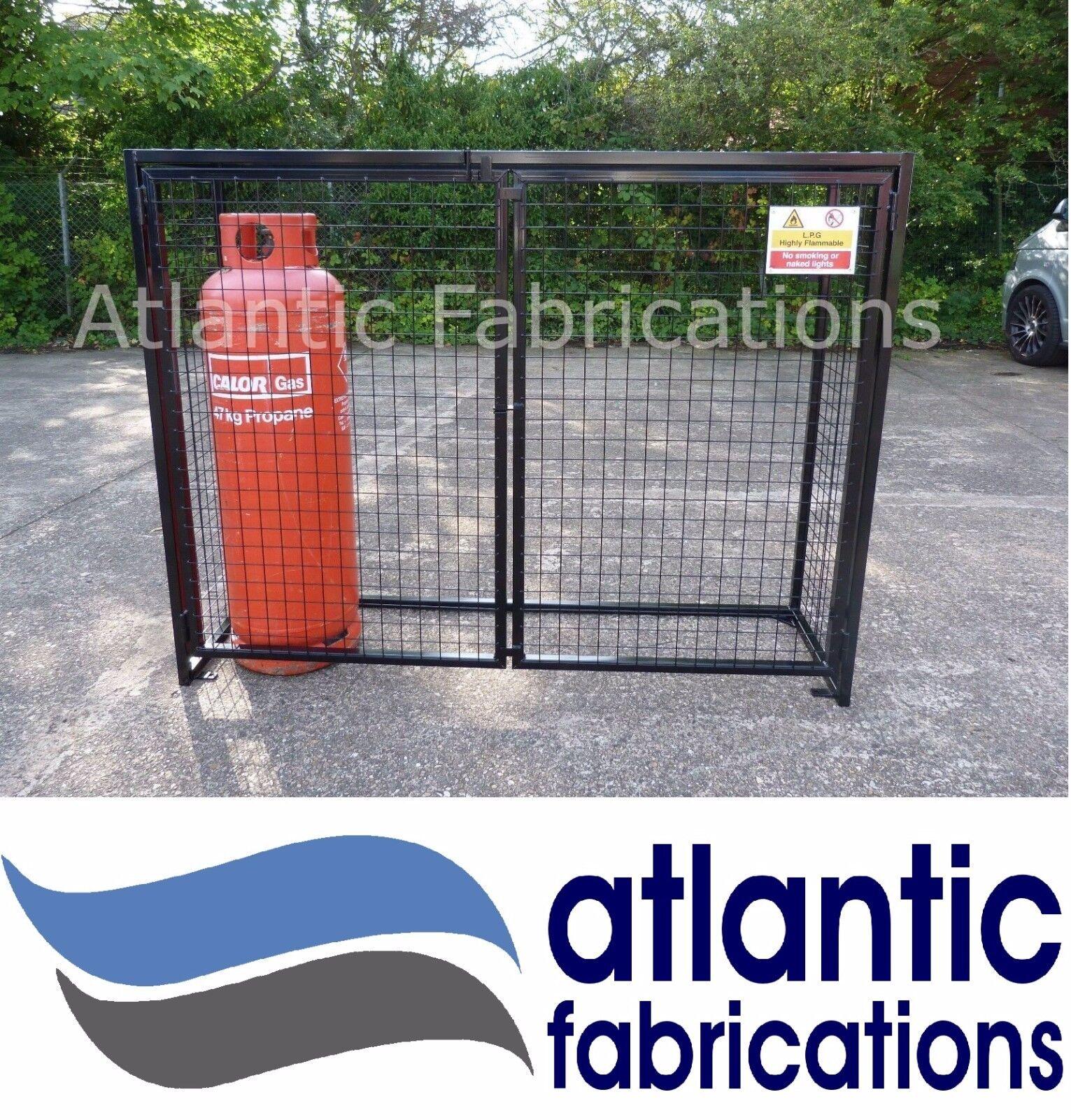 4 x Propane 47kg Gas cylinder storage - Bottle cage 1400h x 1800w x 500d