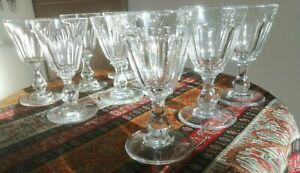 Anciens  Verres liqueur cristal et cristal et verre  taille Baccarat 19 ème