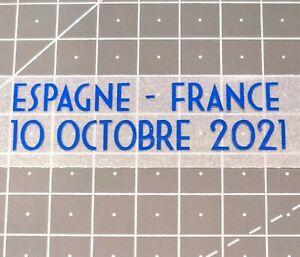 Patch détails match Espagne France 10 Octobre 2021 Finale Ligue Nations Benzema