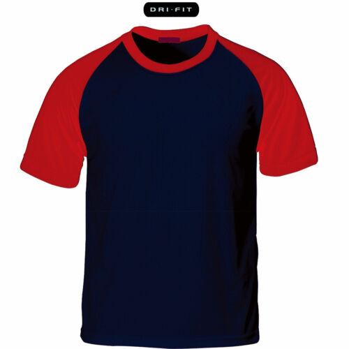 KH2004 Cool Dry Raglan T-Shirt Plain Baseball Jersey Crew Neck Short Sleeve Tee