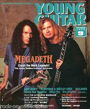 Young Guitar Magazine September 1999 Japan Megadeth Dokken Steve Vai Clapton