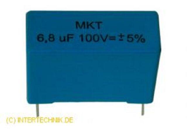 Intertechnik Film Capacitor M K T 0.10 Mf /100 V 5% Radial