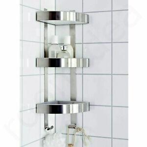 Details zu IKEA GRUNDTAL Wandeckregal 26x58 Wandregal Badezimmer Ablage  Haken Edelstahl NEU