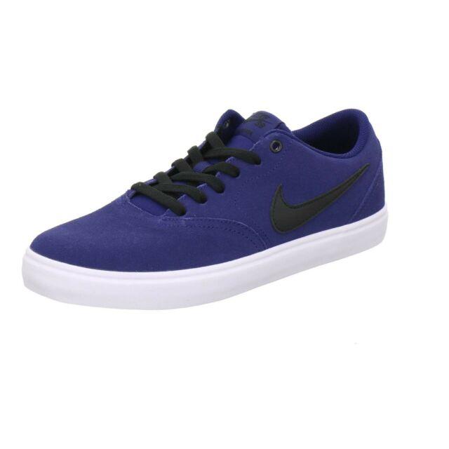 Nike SB Blackwhite Check Solarsoft Suede Skate Shoes Mens 10.5 44.5 843895 001