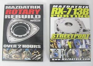 Details about VIDEOS Mazdatrix - How To Rebuild and Port your Mazda Rotary  Engine, 13B, RX7