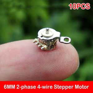 10PCS-2-phase-4-wire-6-4MM-Micro-Mini-Precision-Stepper-Motor-DIY-Digital-Camera