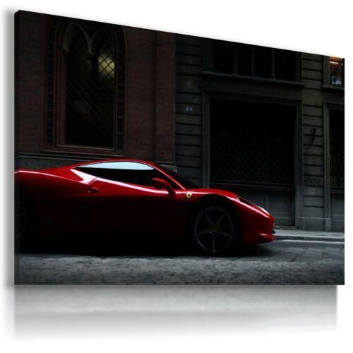 FERRARI ITALIA RED Super Sport Cars Large Wall Canvas Picture ART AU414 MATAGA .