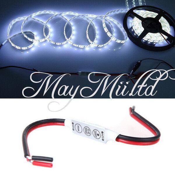 Mini LED Single Color Dimmer Controller 12V For 5050 3528 LED Light Strips E