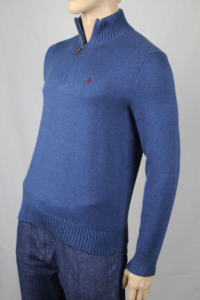 Polo Ralph Lauren bluee 1 2 Half Zip Sweater NWT Large L