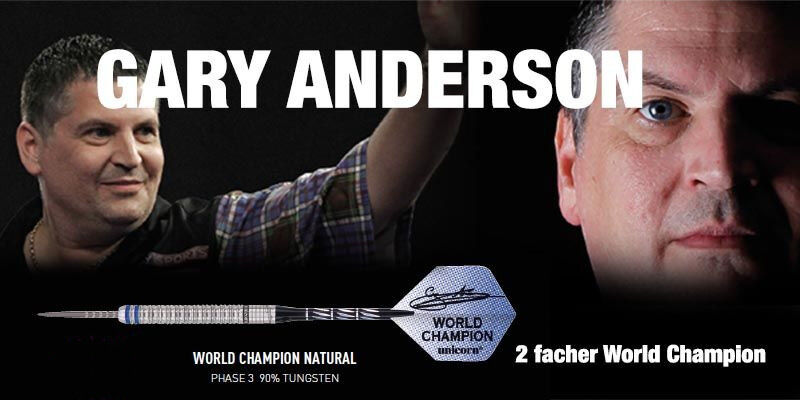 UNICORN Steel Steel Steel Dart Set Pfeile Gary Anderson World Champion Tungsten Phase 3 21gr 68fd48