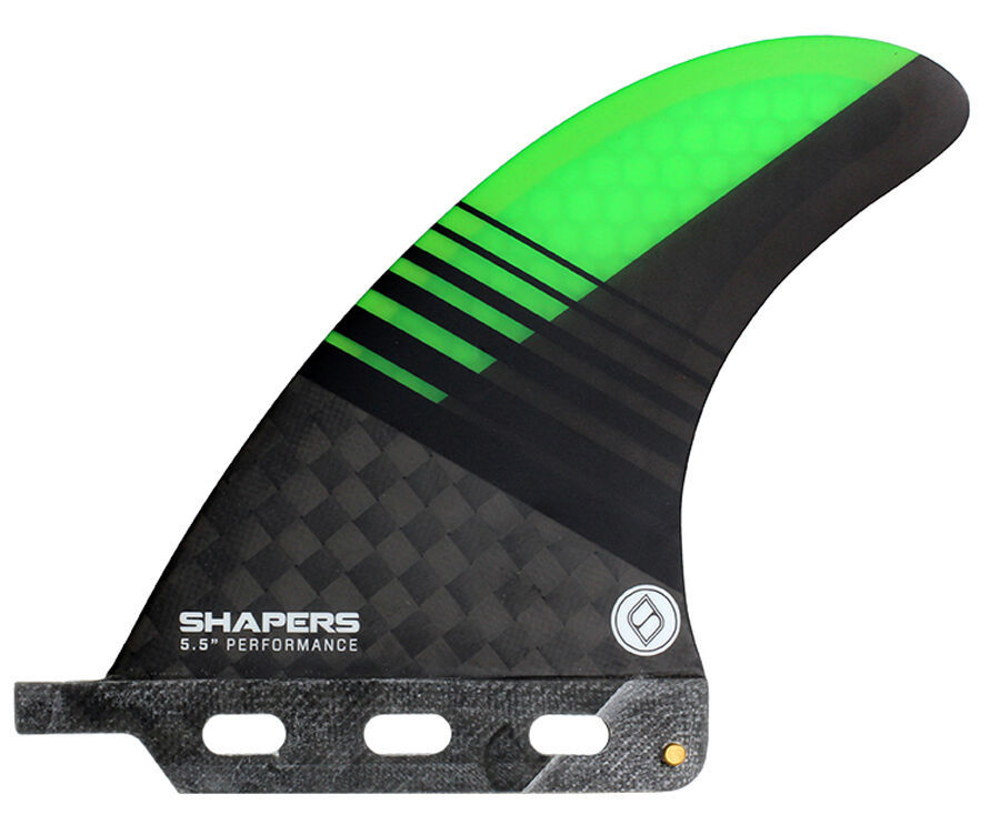 Shapers Fins - 5.5  Performance - Green - XX-Large - Longboard Fin - Surf - New
