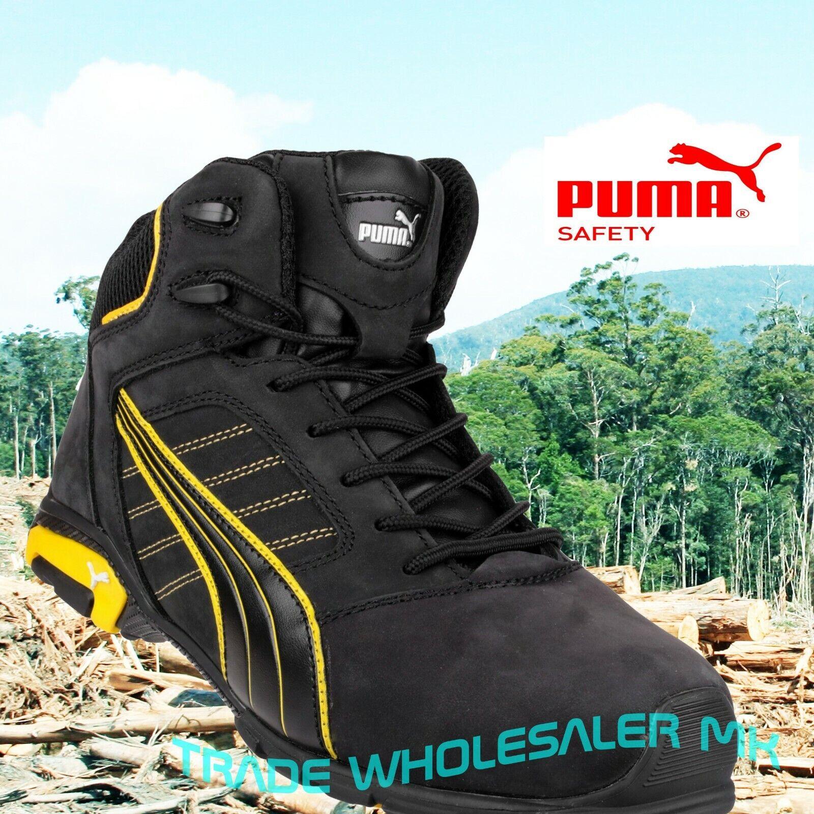 Puma Amsterdam Industrial Mens S3 SRC Safety Midsole & Toe Cap Trainers