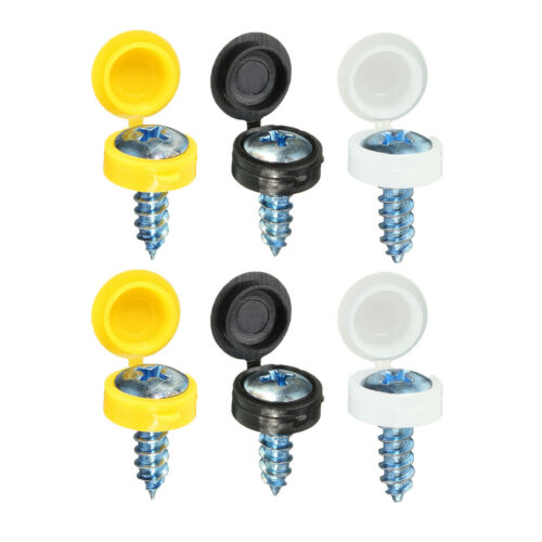 50PCS Hinged Plastic Screw Cover Fold Snap Cap For Car Home Furniture 5 Colors