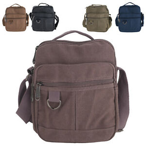Details About Canvas Travel Work Bag With Adjule Strap Carry Handle For Men Las